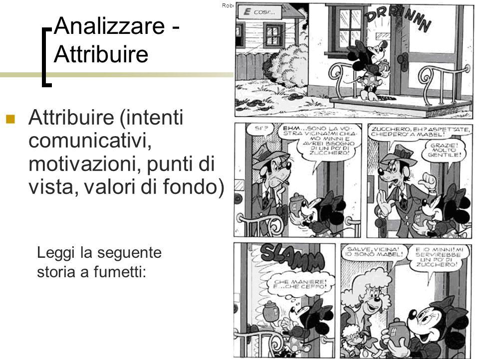 Roberto Trinchero – Dip. di Scienze dellEducazione e della Formazione – Università degli studi di Torino 40 Analizzare - Attribuire Leggi la seguente