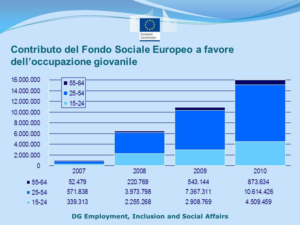 Contributo del Fondo Sociale Europeo a favore delloccupazione giovanile