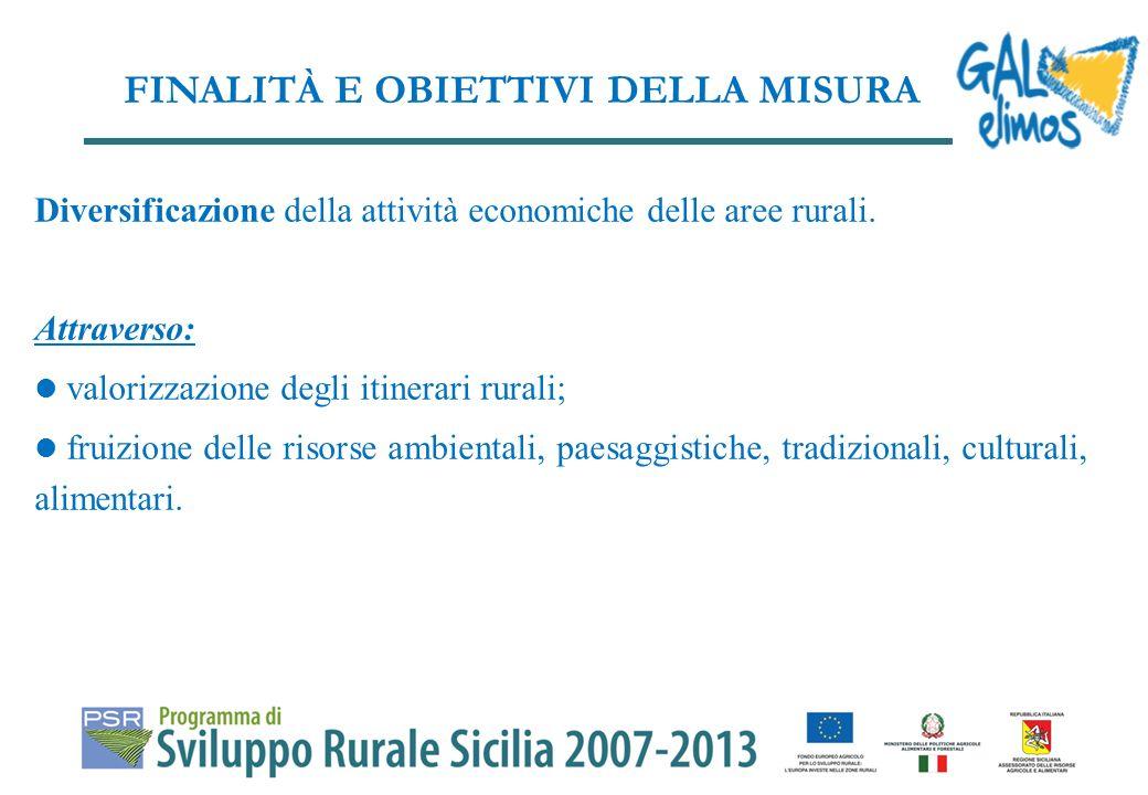 ILLUSTRAZIONE ATTIVITA MISURA 313 INCENTIVAZIONE DI ATTIVITA TURISTICHE Azione A - Infrastrutture su piccola scala per lo sviluppo degli itinerari rurali