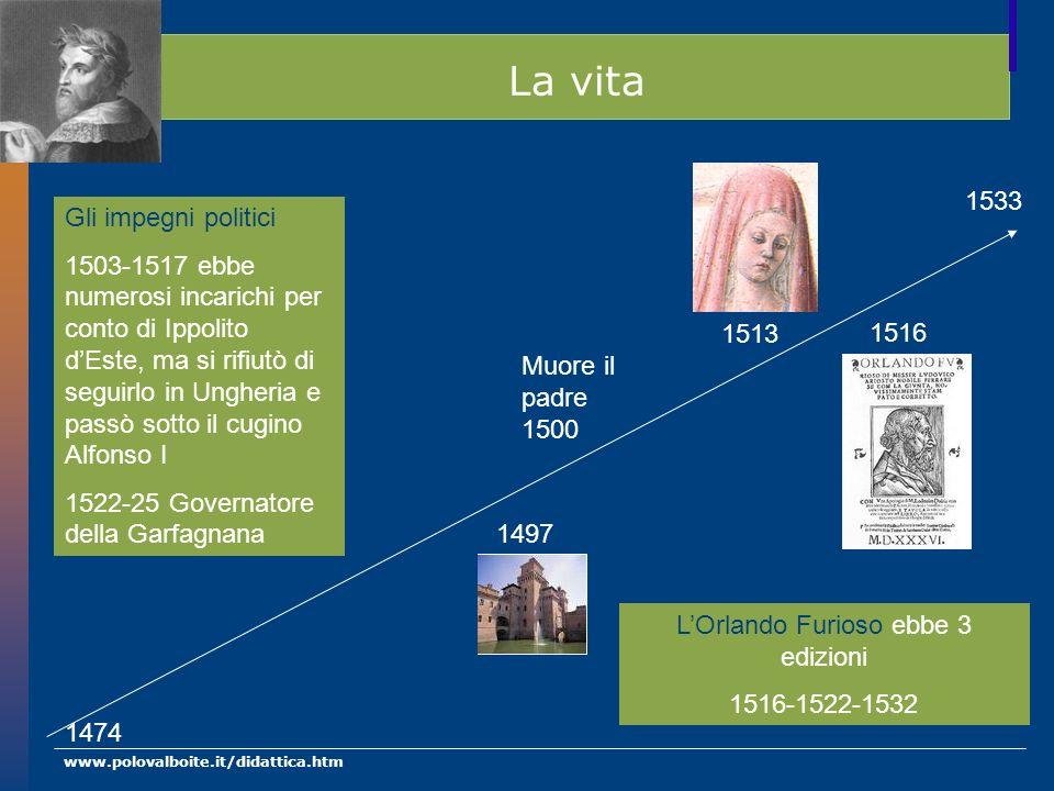 www.polovalboite.it/didattica.htm Opere minori prime opere Grande ammiratore dei classici e di Petrarca.