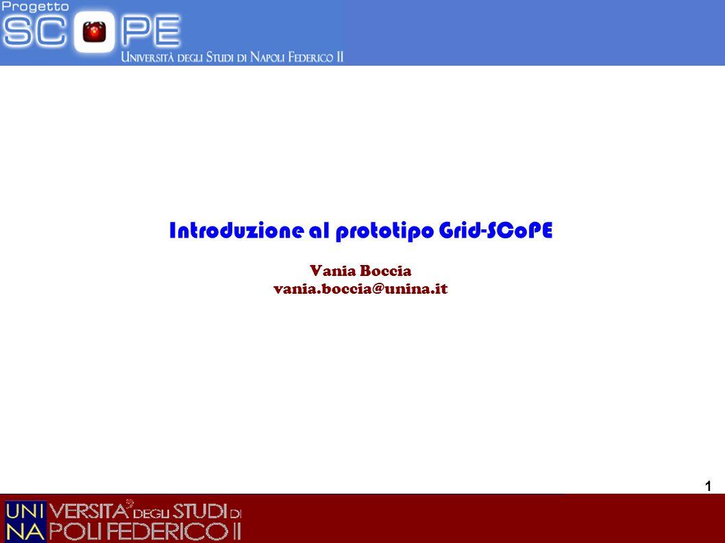 Vania Boccia Incontro del 18-10-07 22 Informazioni sullo stato della GRID Le risorse, al momento disponibili sono pubblicate sul sito: http://scopegridice01.dsf.unina.it/site/site.php