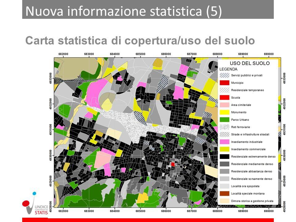 Nuova informazione statistica (5) Carta statistica di copertura/uso del suolo