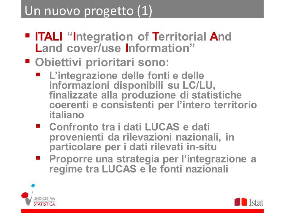 Un nuovo progetto (1) ITALI Integration of Territorial And Land cover/use Information Obiettivi prioritari sono: Lintegrazione delle fonti e delle inf