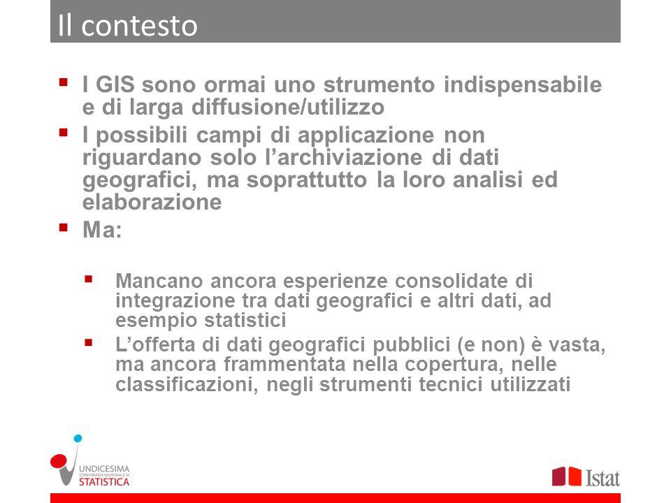 Il contesto I GIS sono ormai uno strumento indispensabile e di larga diffusione/utilizzo I possibili campi di applicazione non riguardano solo larchiv