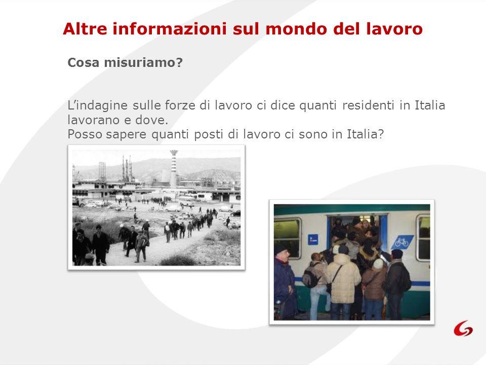 Cosa misuriamo? Lindagine sulle forze di lavoro ci dice quanti residenti in Italia lavorano e dove. Posso sapere quanti posti di lavoro ci sono in Ita