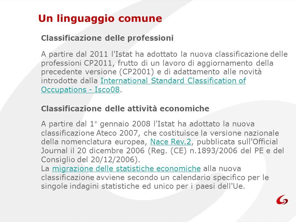A partire dal 2011 l'Istat ha adottato la nuova classificazione delle professioni CP2011, frutto di un lavoro di aggiornamento della precedente versio