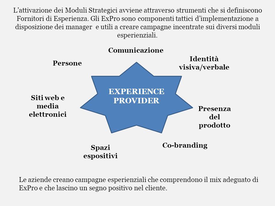 Lattivazione dei Moduli Strategici avviene attraverso strumenti che si definiscono Fornitori di Esperienza. Gli ExPro sono componenti tattici dimpleme