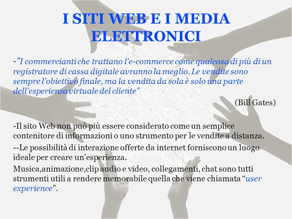 I SITI WEB E I MEDIA ELETTRONICI - I commercianti che trattano l'e-commerce come qualcosa di più di un registratore di cassa digitale avranno la megli