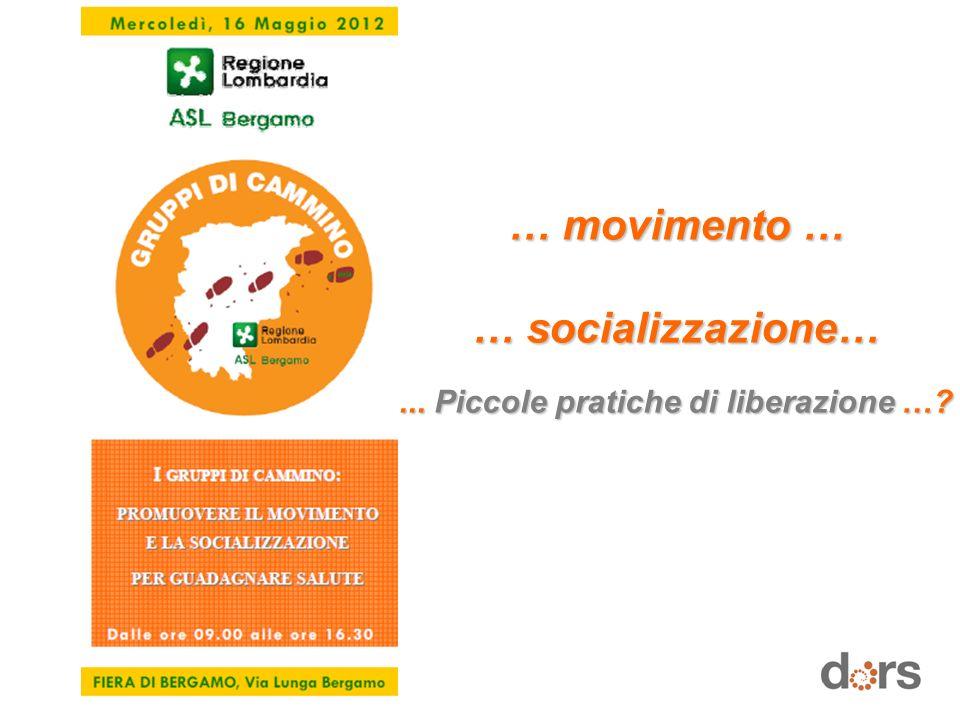… movimento … … socializzazione…... Piccole pratiche di liberazione …?