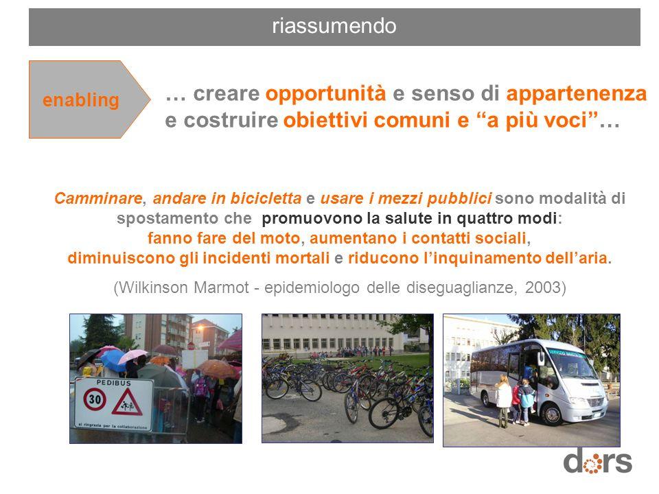 Camminare, andare in bicicletta e usare i mezzi pubblici sono modalità di spostamento che promuovono la salute in quattro modi: fanno fare del moto, a