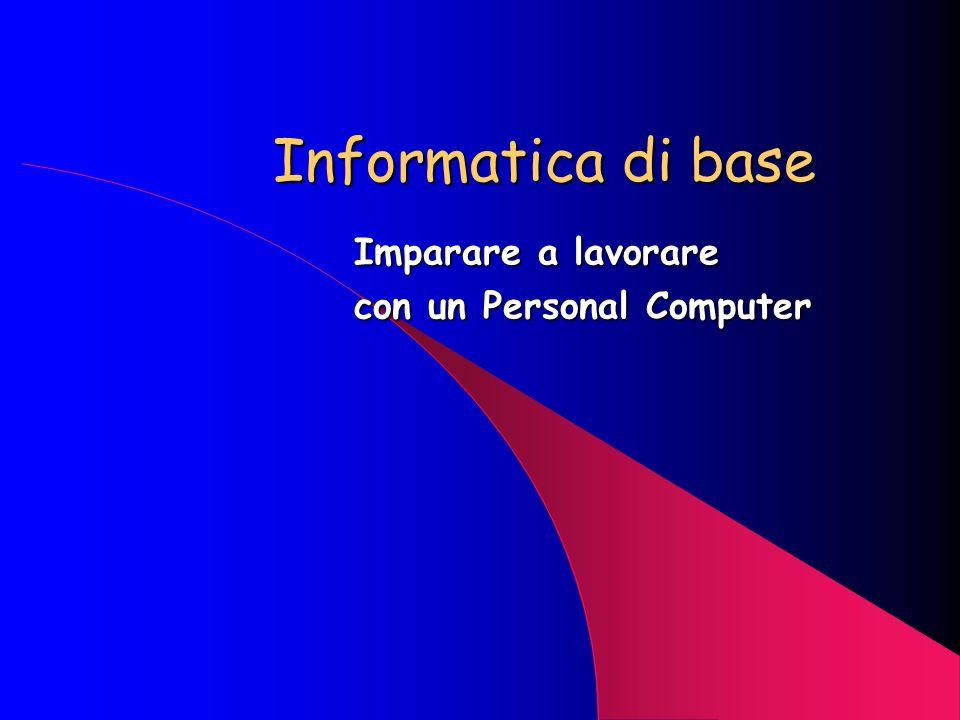OUTPUT INPUT MEMORIE INTERNE (ROM - RAM) R andom A ccess M emory FD – HD CD ROM VIDEO STAMPANTE CPU TASTIERA R ead O nly M emory