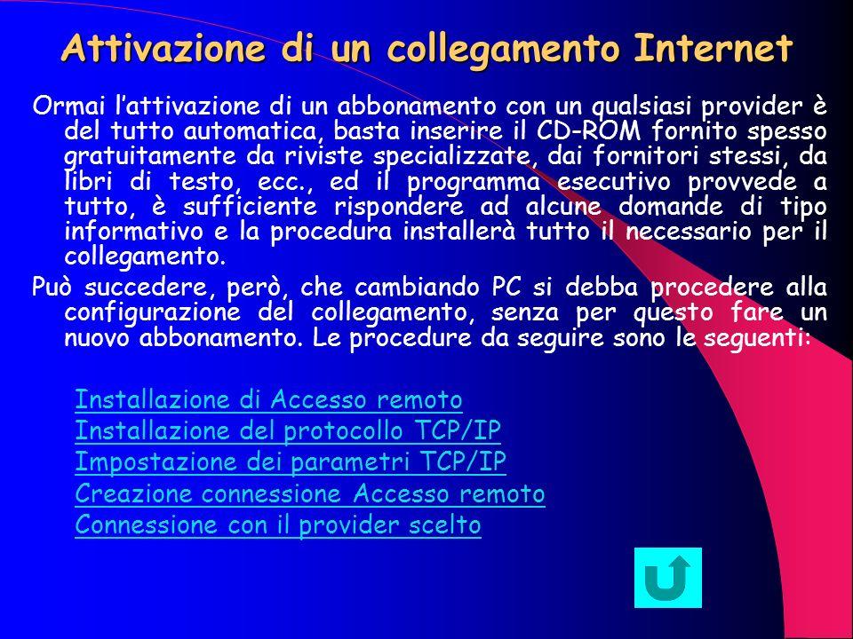 Collegamenti ad Internet Internet è una rete globale che permette di collegarsi con qualsiasi PC collegato ad essa utilizzando le normali linee telefo