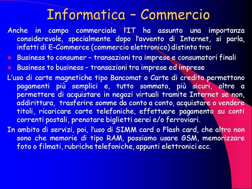 Informatica – Aziende Lautomazione nelle aziende non è una novità, i centri meccanografici e, successivamente, i CED sono presenti da una trentina dan