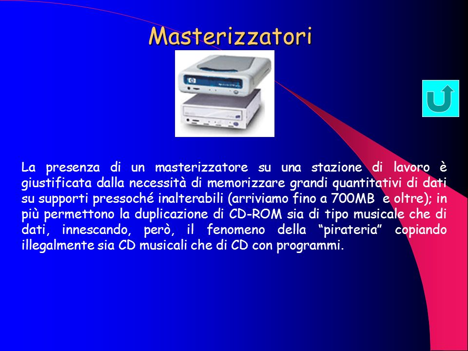 Casse acustiche e schede audio La multimedialità ha introdotto anche una informazione di tipo sonoro, per cui la presenza di schede audio che permetta