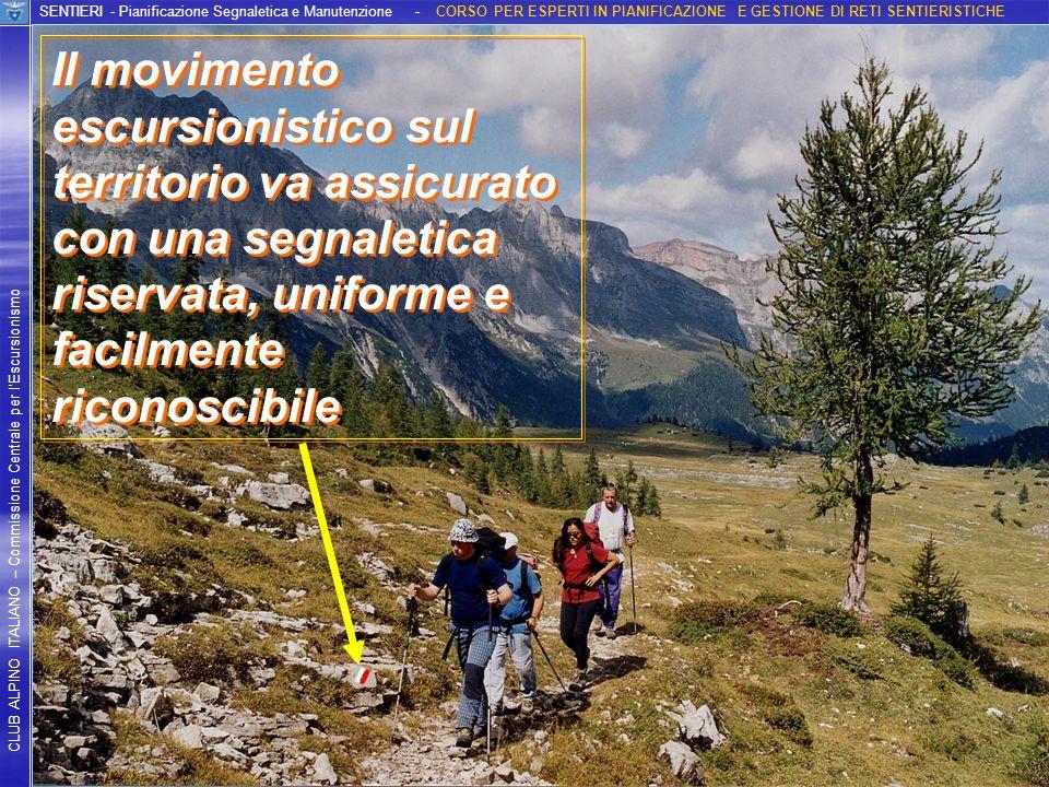 Foto Sandro Selandari CLUB ALPINO ITALIANO – Commissione Centrale per lEscursionismo SENTIERI - Pianificazione Segnaletica e Manutenzione - CORSO PER
