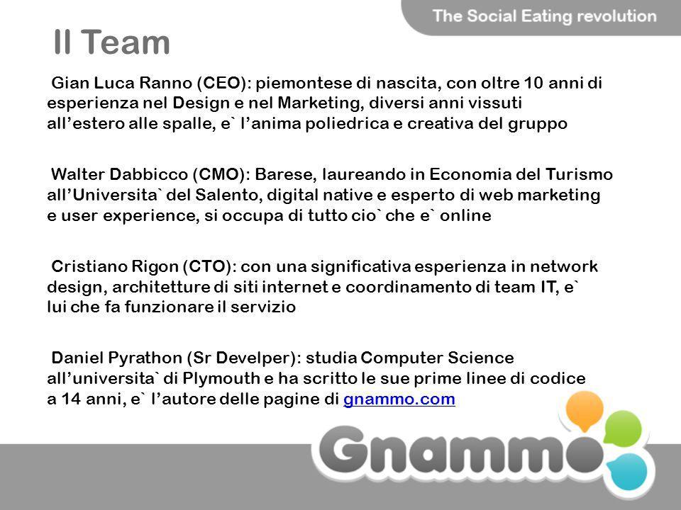 Il Team Gian Luca Ranno (CEO): piemontese di nascita, con oltre 10 anni di esperienza nel Design e nel Marketing, diversi anni vissuti allestero alle