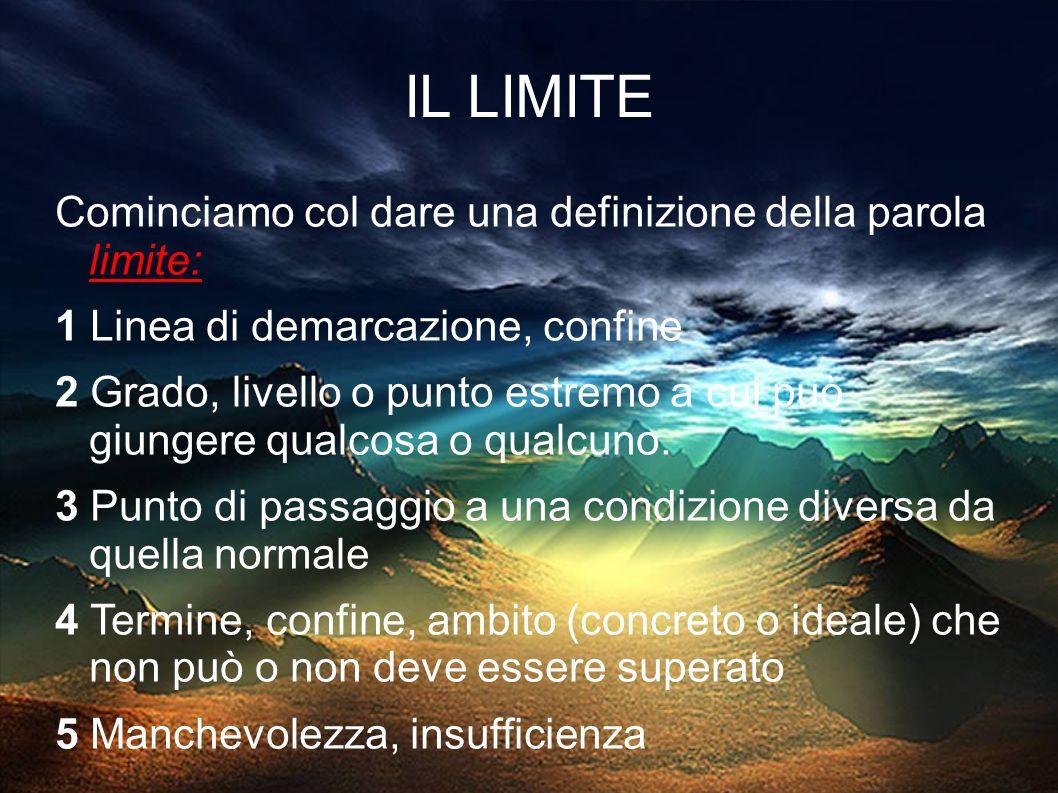 Vediamo subito l etimologia della parola limite: Limes, limitis è una parola latina della III declinazione (imparisillabo con tema in dentale) e indicava proprio la frontiera, il confine del territorio romano.