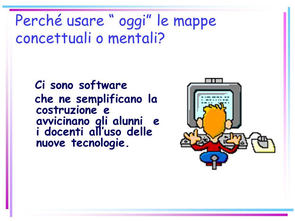 Perché usare oggi le mappe concettuali o mentali? Ci sono software che ne semplificano la costruzione e avvicinano gli alunni e i docenti alluso delle