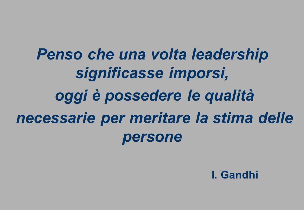 Dott.ssa Fabbri Giorgia fabbri_giorgia@libero.it Cell. 328 6965402 Penso che una volta leadership significasse imporsi, oggi è possedere le qualità ne