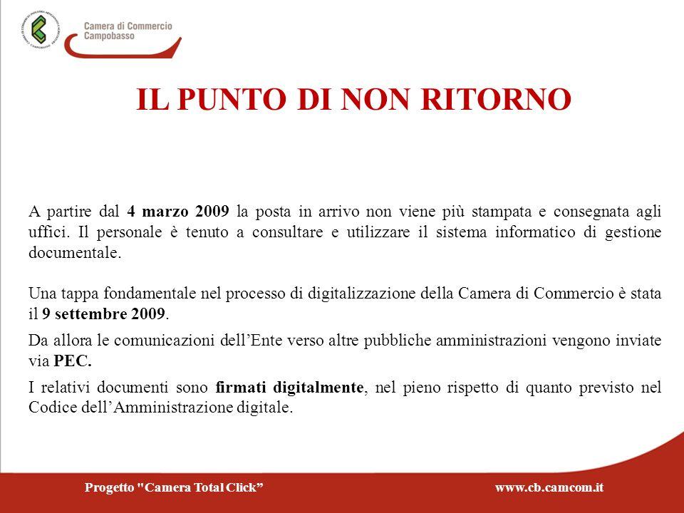 IL PUNTO DI NON RITORNO A partire dal 4 marzo 2009 la posta in arrivo non viene più stampata e consegnata agli uffici. Il personale è tenuto a consult