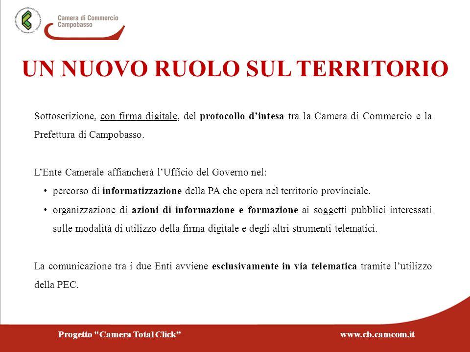 Sottoscrizione, con firma digitale, del protocollo dintesa tra la Camera di Commercio e la Prefettura di Campobasso. LEnte Camerale affiancherà lUffic