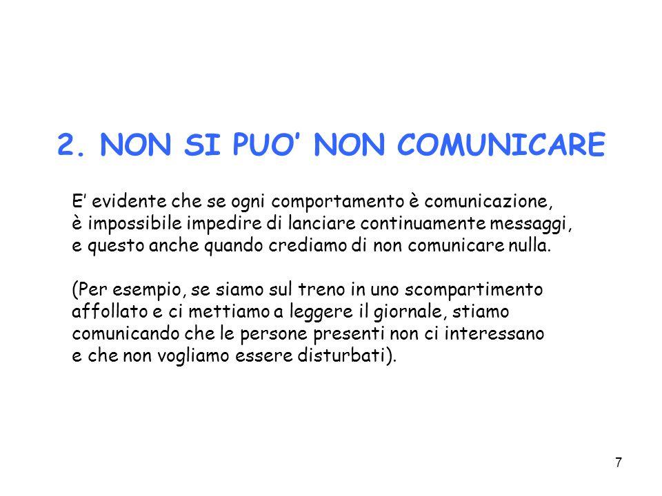 28 Il focus è, solitamente, il concetto base esposto dal punto di vista del ricevente (comunicazione come relazione).