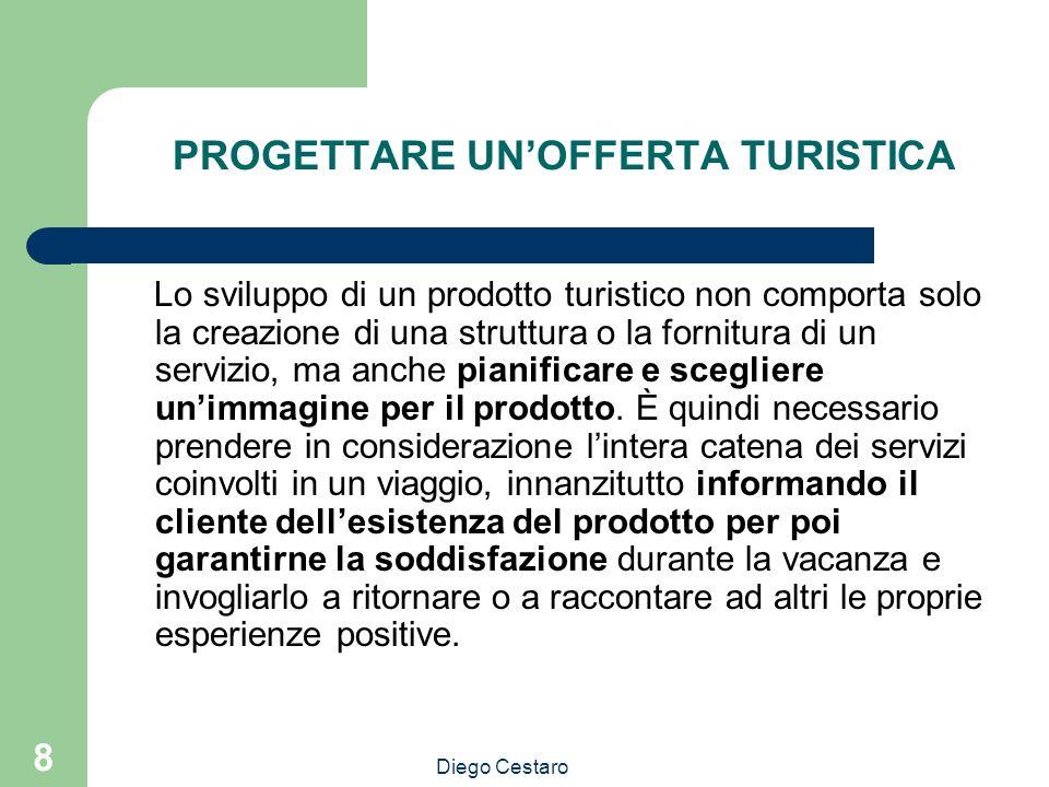 8 PROGETTARE UNOFFERTA TURISTICA Lo sviluppo di un prodotto turistico non comporta solo la creazione di una struttura o la fornitura di un servizio, m