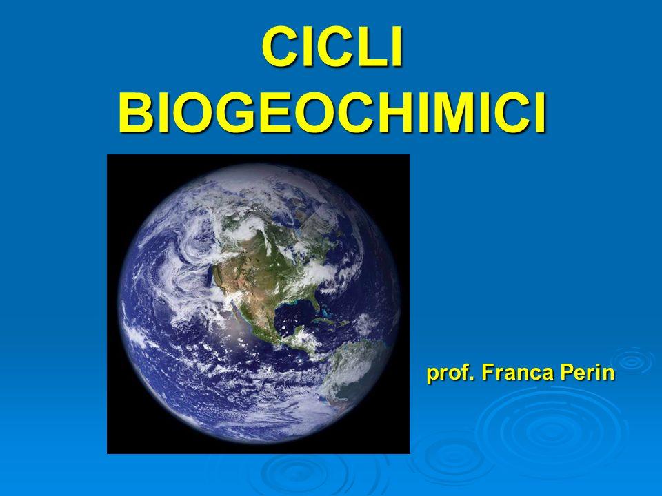 Un (o ciclo vitale) è il percorso seguito da un determinato elemento chimico all interno della biosfera.