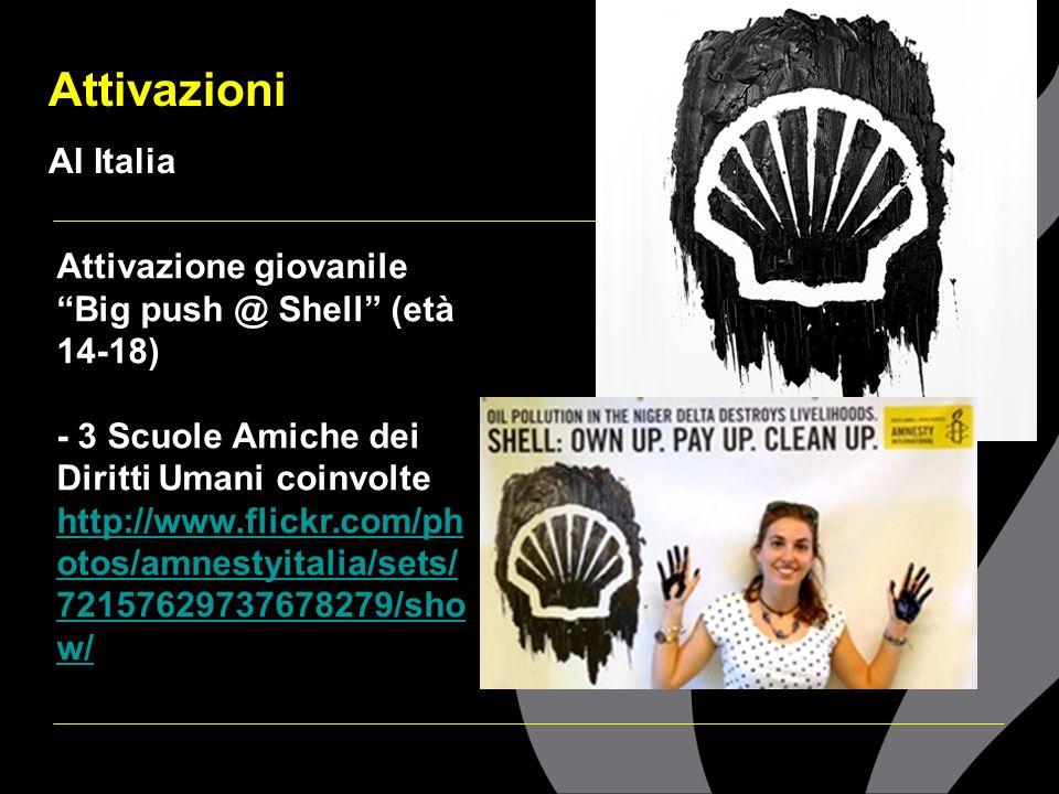 Attivazioni AI Italia Attivazione giovanile Big push @ Shell (età 14-18) - 3 Scuole Amiche dei Diritti Umani coinvolte http://www.flickr.com/ph otos/a