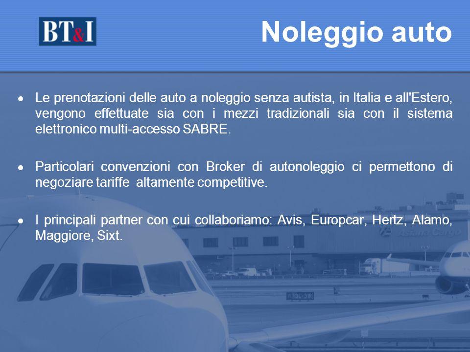 Le prenotazioni delle auto a noleggio senza autista, in Italia e all Estero, vengono effettuate sia con i mezzi tradizionali sia con il sistema elettronico multi-accesso SABRE.