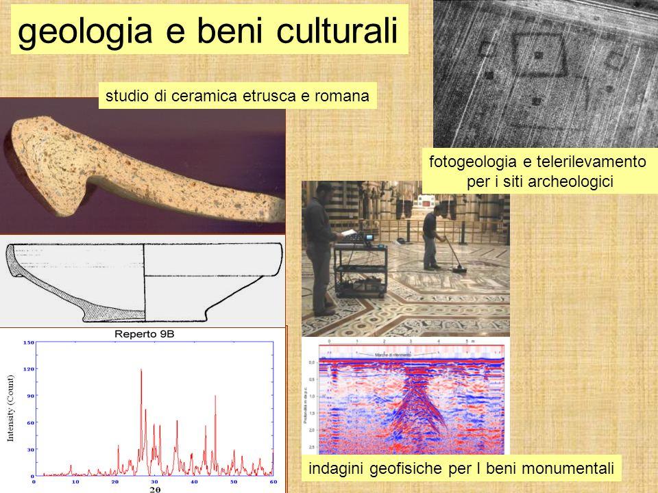 fotogeologia e telerilevamento per i siti archeologici geologia e beni culturali studio di ceramica etrusca e romana indagini geofisiche per I beni mo