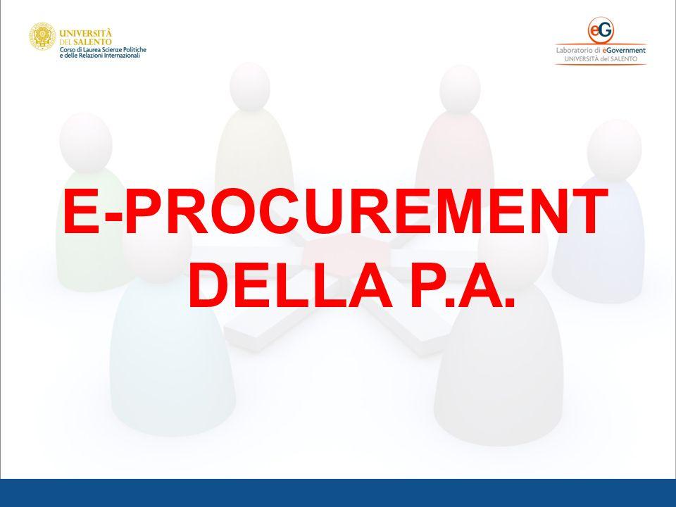 E-PROCUREMENT DELLA P.A.