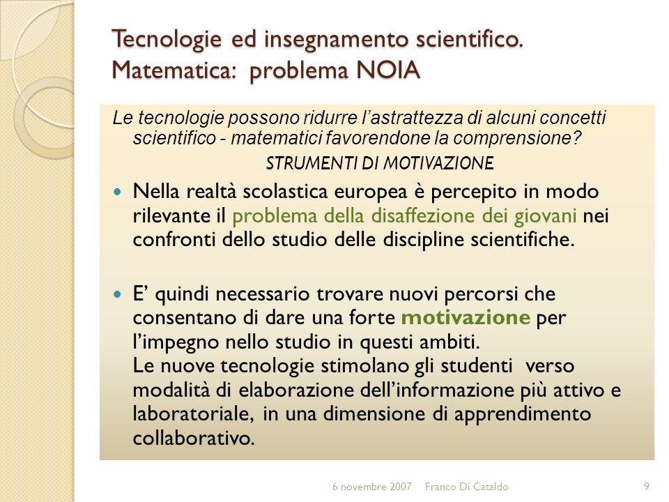 RISORSE in dimensione europea per insegnamenti scientifici e tecnologici GRID (GRowing Interest in the Development of teaching science) Il progetto GRID si propone di identificare il maggior numero possibile di iniziative nel campo dellinsegnamento delle scienze, confidando su persone direttamente coinvolte nei progetti e nella loro volontà di fornire informazioni sul proprio lavoro.