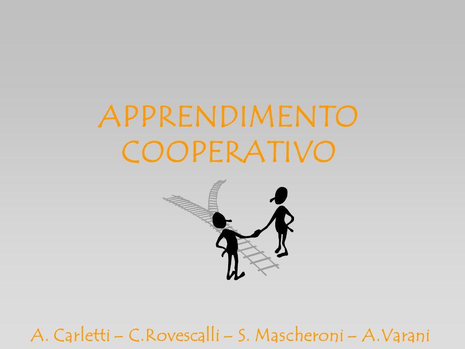 APPRENDIMENTO COOPERATIVO A. Carletti – C.Rovescalli – S. Mascheroni – A.Varani