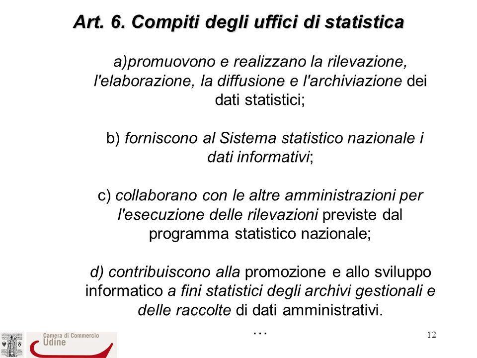 12 Art.6. Compiti degli uffici di statistica Art.