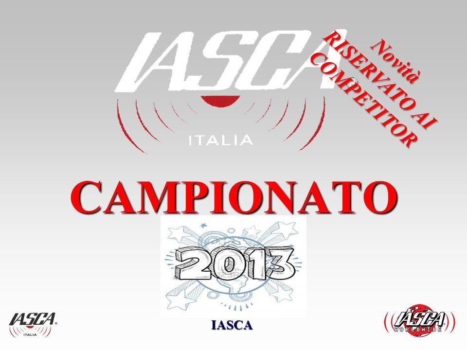 CAMPIONATO 2013 Analizzando la situazione dei vari campionati esistenti in Italia, troviamo ; Circuiti Internazionali 3 – IASCA (Sound Quality ) DB DRAG ( Sound Pression level SPL ) EMMA ( Sound Quality ) Circuiti Italiani e locali, un numero incredibile.