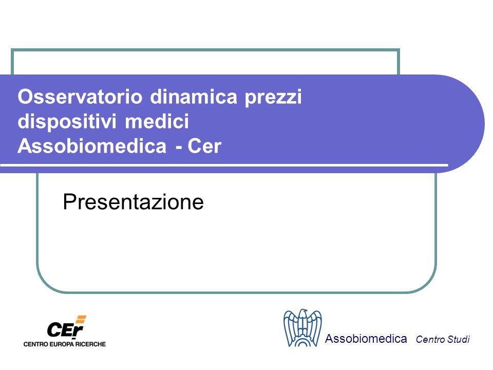 Osservatorio dinamica prezzi dispositivi medici Assobiomedica - Cer Presentazione Assobiomedica Centro Studi
