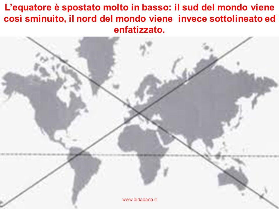 Il planisfero realizzato con la proiezione di Mercatore è eurocentrico; assegna cioè un ruolo privilegiato allEuropa, collocandola al centro ottico de