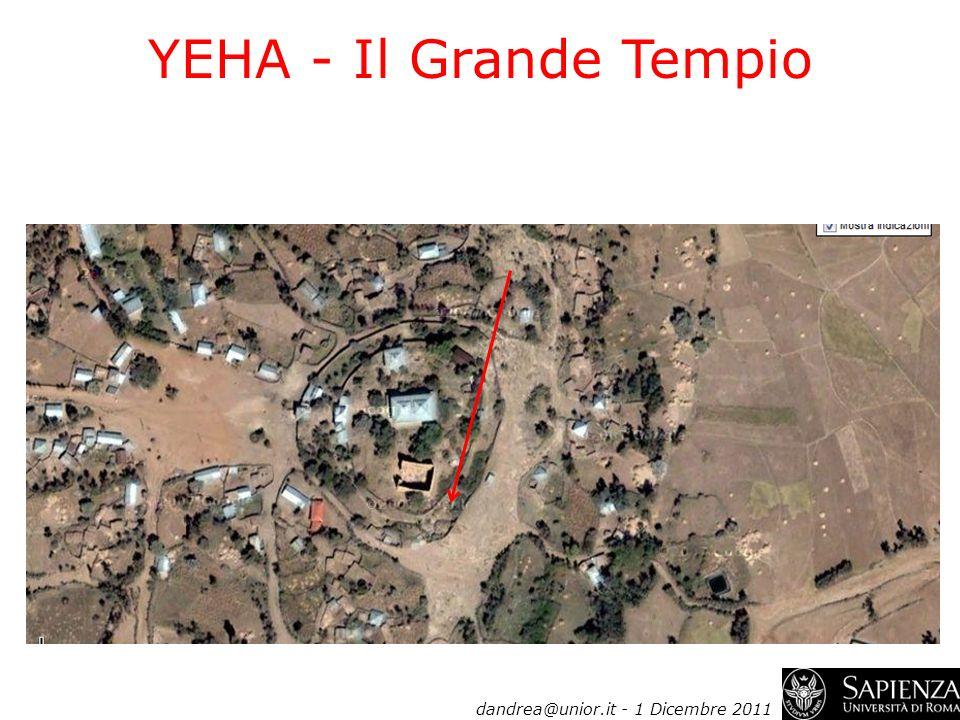 YEHA - Il Grande Tempio dandrea@unior.it - 1 Dicembre 2011