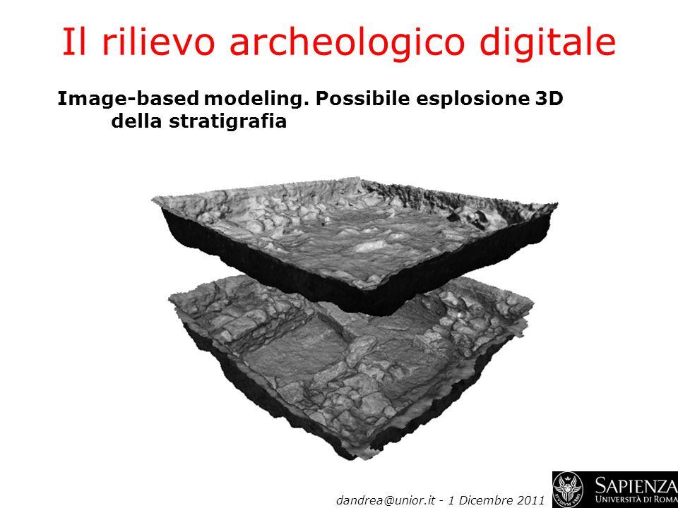 Il rilievo archeologico digitale Image-based modeling. Possibile esplosione 3D della stratigrafia dandrea@unior.it - 1 Dicembre 2011