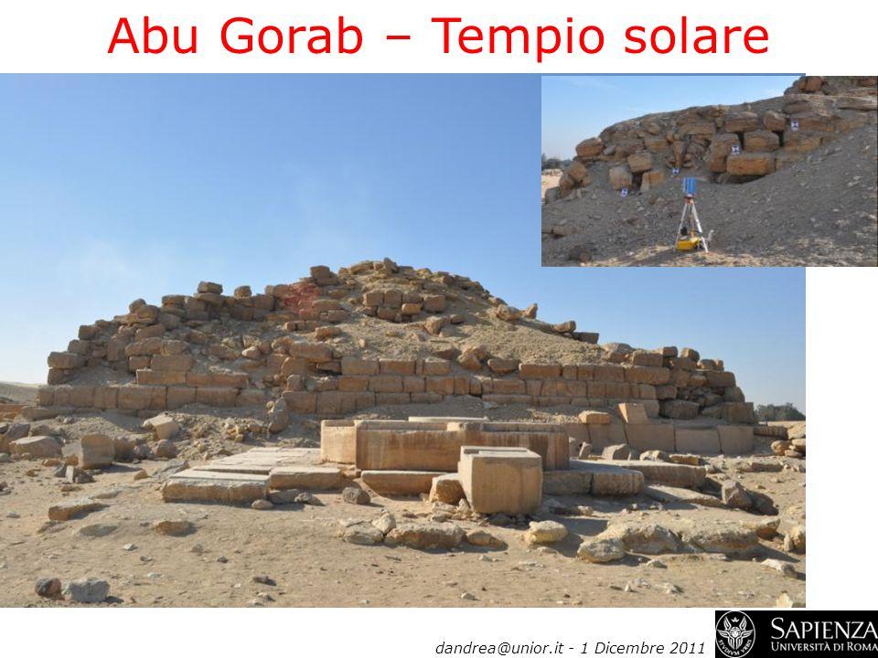 Abu Gorab – Tempio solare dandrea@unior.it - 1 Dicembre 2011