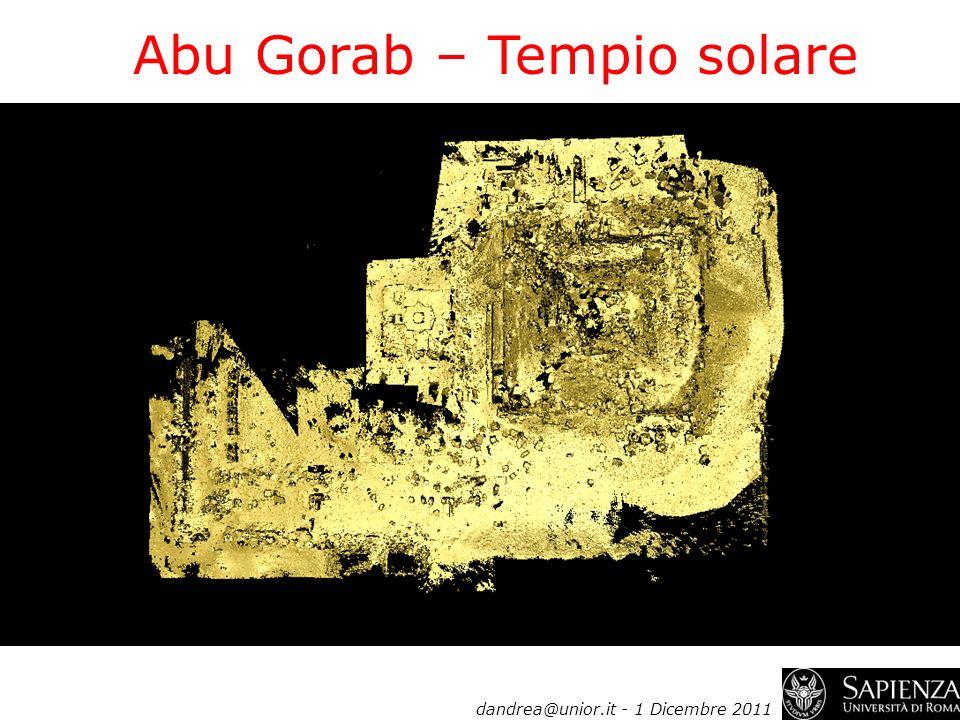 dandrea@unior.it - 1 Dicembre 2011 Abu Gorab – Tempio solare