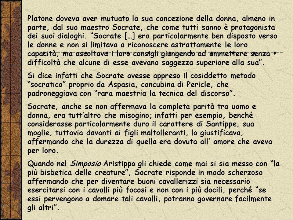 Anche Epicuro aveva una concezione positiva del ruolo delle donne, che aveva ammesso al suo Giardino.
