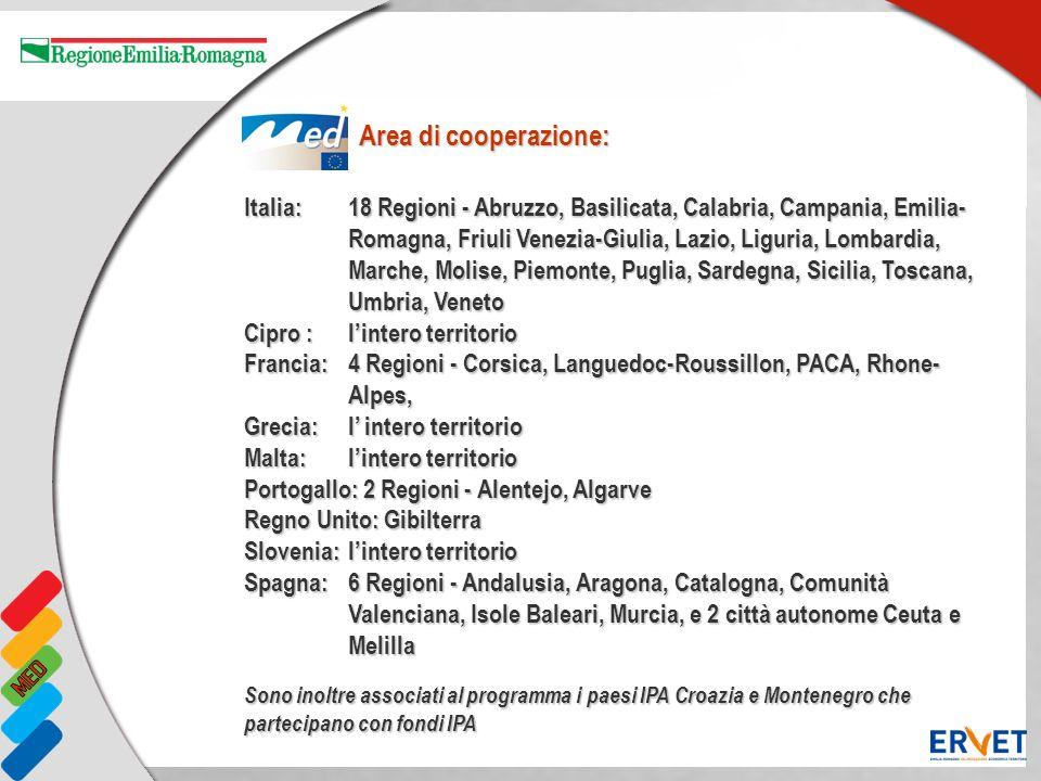 Italia: 18 Regioni - Abruzzo, Basilicata, Calabria, Campania, Emilia- Romagna, Friuli Venezia-Giulia, Lazio, Liguria, Lombardia, Marche, Molise, Piemo