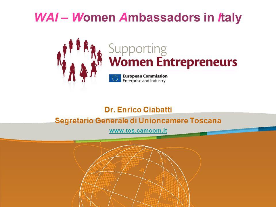 WAI – Women Ambassadors in Italy Grazie per lattenzione Dr.