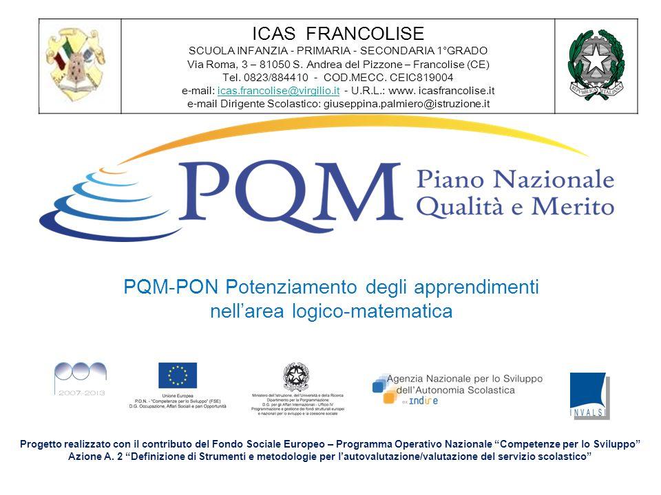 PQM-PON Potenziamento degli apprendimenti nellarea logico-matematica Rivolto alle scuole secondarie di I° grado
