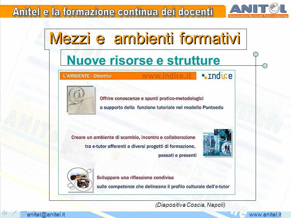 www.anitel.itanitel@anitel.it Mezzi e ambienti formativi Nuove risorse e strutture (Diapositiva Coscia, Napoli)