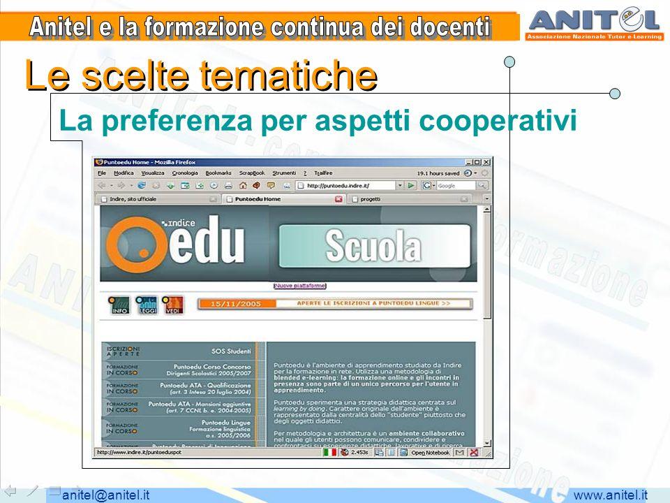 www.anitel.itanitel@anitel.it Serie di laboratori e percorsi Utilizzo di tools online per la condivisione