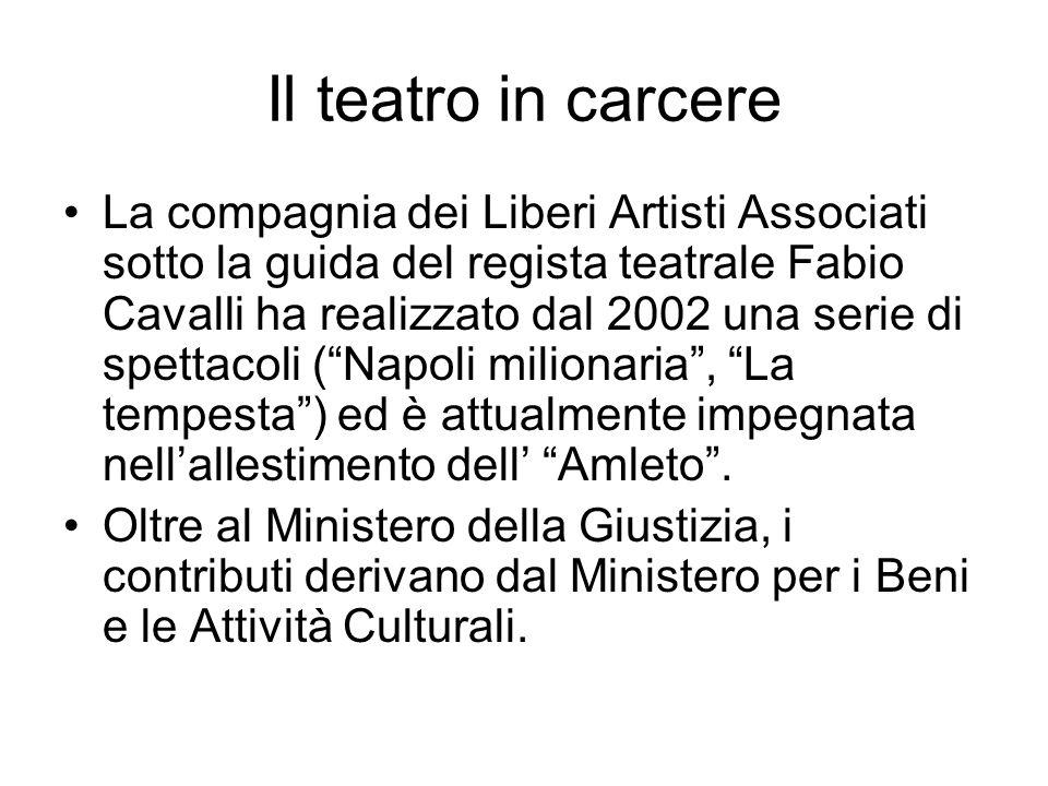 Il teatro in carcere La compagnia dei Liberi Artisti Associati sotto la guida del regista teatrale Fabio Cavalli ha realizzato dal 2002 una serie di s