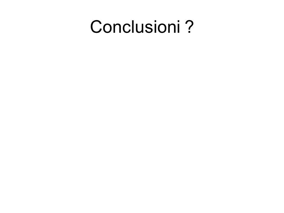 Conclusioni ?